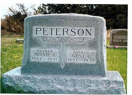 PETERSON, MINNIE A. AND GUST A. - Polk County, Iowa | MINNIE A. AND GUST A. PETERSON