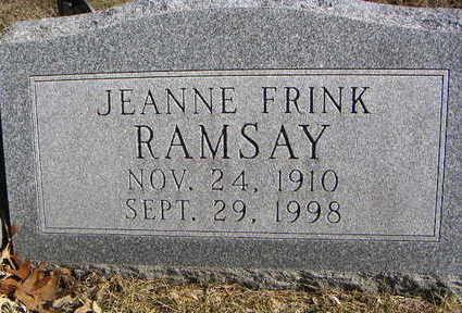 FRINK RAMSEY, JEANNE - Polk County, Iowa | JEANNE FRINK RAMSEY