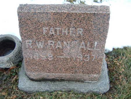 RANDALL, R. W. - Polk County, Iowa | R. W. RANDALL