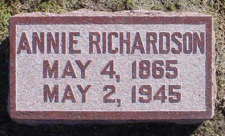 RICHARDSON, ANNIE - Polk County, Iowa | ANNIE RICHARDSON