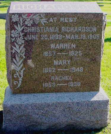 RICHARDSON, MARY - Polk County, Iowa | MARY RICHARDSON