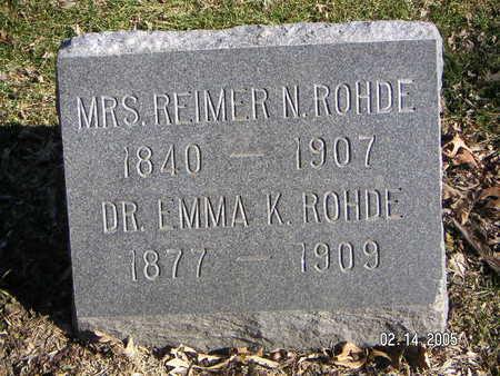 ROHDE, REIMER N. , MRS. - Polk County, Iowa | REIMER N. , MRS. ROHDE