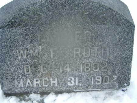 ROTH, WILLIAM F. - Polk County, Iowa | WILLIAM F. ROTH
