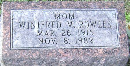 ROWLES, WINIFRED M - Polk County, Iowa   WINIFRED M ROWLES