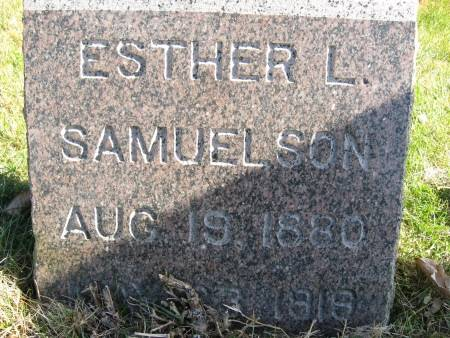 SAMUELSON, ESTHER - Polk County, Iowa | ESTHER SAMUELSON