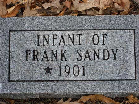 SANDY, INFANT OF FRANK - Polk County, Iowa | INFANT OF FRANK SANDY