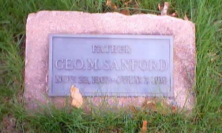 SANFORD, GEORGE M. - Polk County, Iowa   GEORGE M. SANFORD