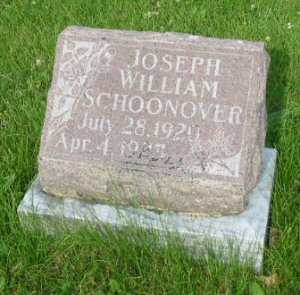 SCHOONOVER, JOSEPH WILLIAM - Polk County, Iowa | JOSEPH WILLIAM SCHOONOVER