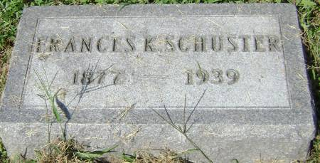 SCHUSTER, FRANCES K - Polk County, Iowa | FRANCES K SCHUSTER