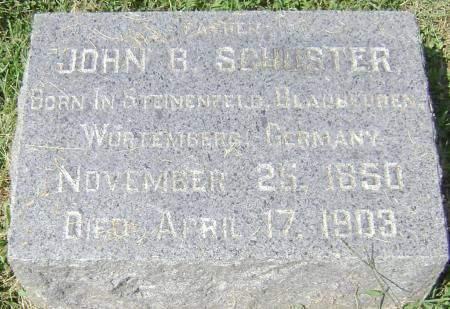 SCHUSTER, JOHN B - Polk County, Iowa   JOHN B SCHUSTER