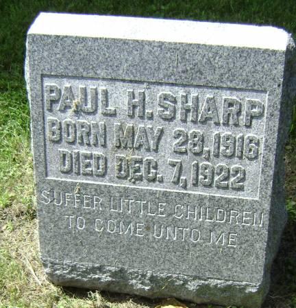 SHARP, PAUL H - Polk County, Iowa   PAUL H SHARP