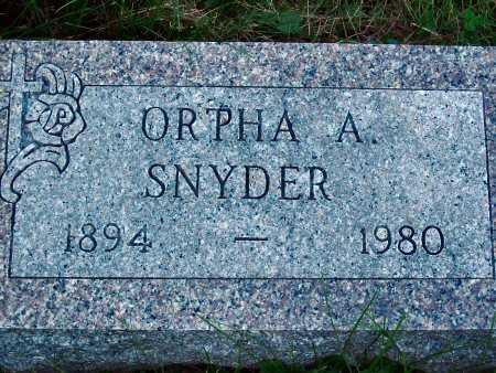 SNYDER, ORPHA A. - Polk County, Iowa   ORPHA A. SNYDER