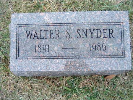 SNYDER, WALTER - Polk County, Iowa | WALTER SNYDER