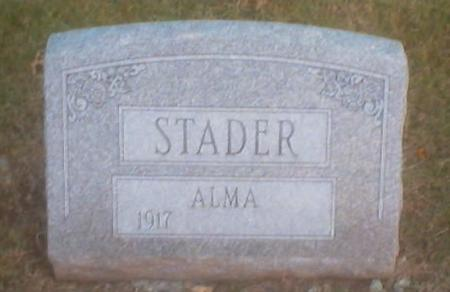 STADER, ALMA - Polk County, Iowa | ALMA STADER