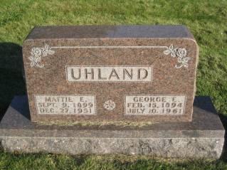 UHLAND, GEORGE - Polk County, Iowa   GEORGE UHLAND