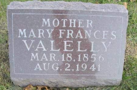 VALELLY, MARY FRANCES - Polk County, Iowa | MARY FRANCES VALELLY