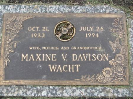 DAVISON WACHT, MAXINE  V. - Polk County, Iowa | MAXINE  V. DAVISON WACHT