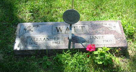 WATT, ALEXANDER - Polk County, Iowa | ALEXANDER WATT