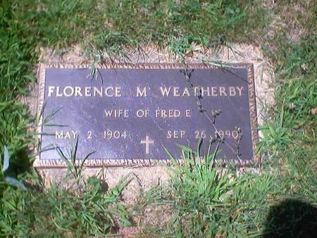 WEATHERBY, FLORENCE M. - Polk County, Iowa | FLORENCE M. WEATHERBY