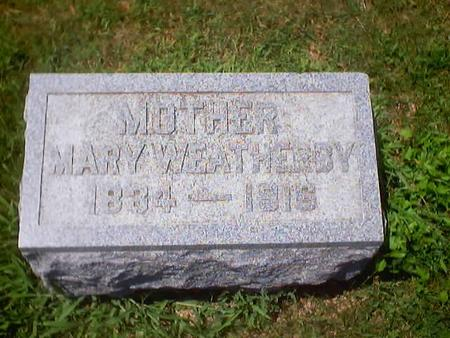 WEATHERBY, MARY - Polk County, Iowa | MARY WEATHERBY