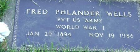 WELLS, FRED PHLANDER - Polk County, Iowa | FRED PHLANDER WELLS