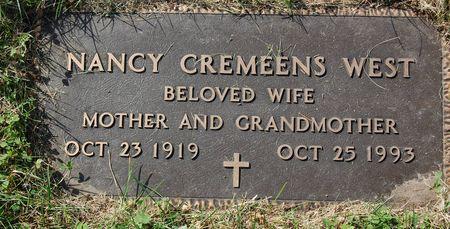 CREMEENS WEST, NANCY - Polk County, Iowa   NANCY CREMEENS WEST