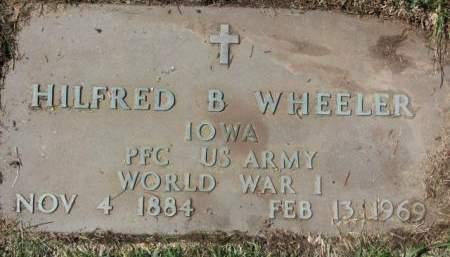 WHEELER, HILFRED  B. - Polk County, Iowa | HILFRED  B. WHEELER