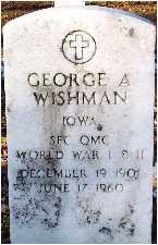 WISHMAN, GEORGE A. (WINK) - Polk County, Iowa   GEORGE A. (WINK) WISHMAN