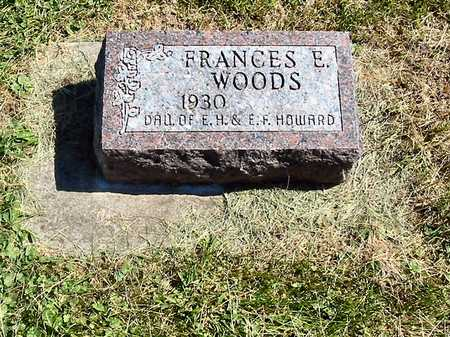 WOODS, FRANCES E. - Polk County, Iowa   FRANCES E. WOODS