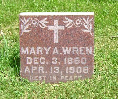 WREN, MARY A. - Polk County, Iowa | MARY A. WREN