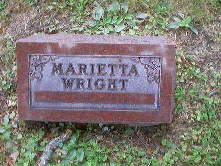 WRIGHT, MARIETTA / MARY ETTA. - Polk County, Iowa | MARIETTA / MARY ETTA. WRIGHT
