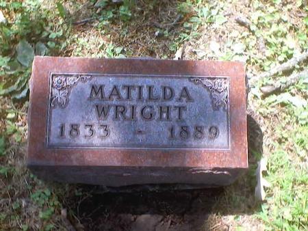 WRIGHT, MATILDA - Polk County, Iowa | MATILDA WRIGHT