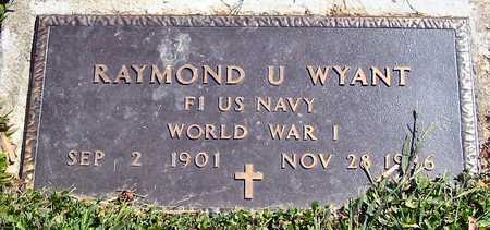 WYANT, RAYMOND U. - Polk County, Iowa | RAYMOND U. WYANT