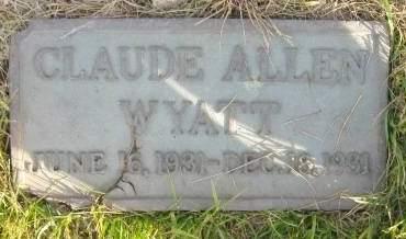 WYATT, CLAUDE - Polk County, Iowa | CLAUDE WYATT