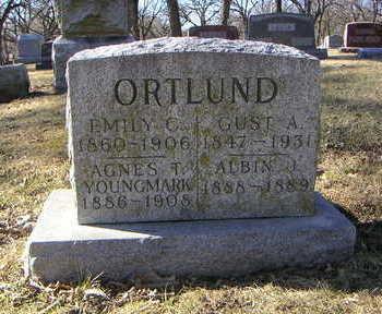 YOUNGMARK ORTLUND, AGNES T. - Polk County, Iowa   AGNES T. YOUNGMARK ORTLUND