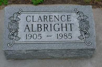 ALBRIGHT, CLARENCE - Pottawattamie County, Iowa   CLARENCE ALBRIGHT