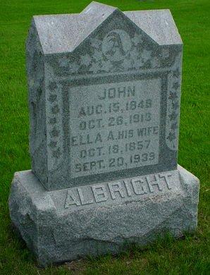 ALBRIGHT, ELLA A - Pottawattamie County, Iowa   ELLA A ALBRIGHT