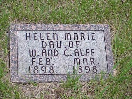ALFF, HELEN MARIE - Pottawattamie County, Iowa | HELEN MARIE ALFF