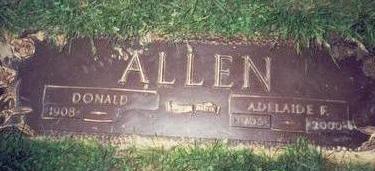 ALLEN, ADELAIDE FRANCES - Pottawattamie County, Iowa   ADELAIDE FRANCES ALLEN