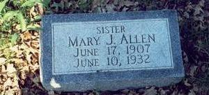 ALLEN, MARY JANE - Pottawattamie County, Iowa | MARY JANE ALLEN