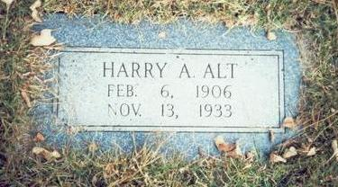 ALT, HARRY A. - Pottawattamie County, Iowa | HARRY A. ALT