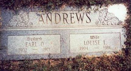 ANDREWS, LOUISE LAVINA - Pottawattamie County, Iowa | LOUISE LAVINA ANDREWS