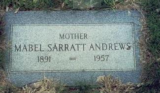 HARDING ANDREWS, MABEL SARRATT - Pottawattamie County, Iowa   MABEL SARRATT HARDING ANDREWS