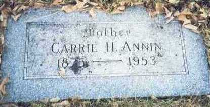 ANNIN, CARRIE H. - Pottawattamie County, Iowa | CARRIE H. ANNIN