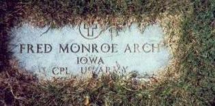 ARCH, FRED MONROE - Pottawattamie County, Iowa   FRED MONROE ARCH