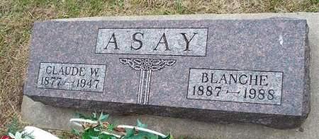 ASAY, BLANCHE - Pottawattamie County, Iowa   BLANCHE ASAY