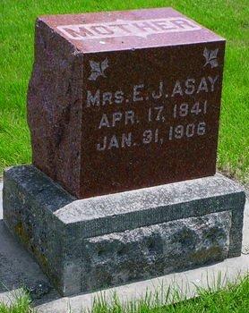 ASAY, MRS E J - Pottawattamie County, Iowa   MRS E J ASAY
