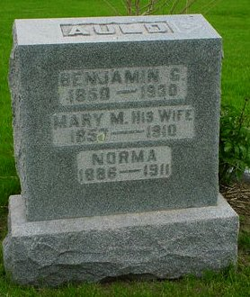 AULD, MARY M - Pottawattamie County, Iowa   MARY M AULD