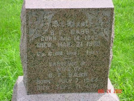 BABB, B F & CAROLINE R. - Pottawattamie County, Iowa | B F & CAROLINE R. BABB