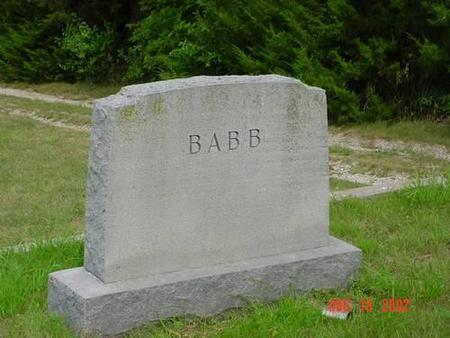 BABB, DAVID E. & LAURA B. - Pottawattamie County, Iowa | DAVID E. & LAURA B. BABB
